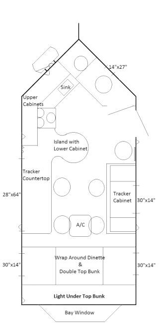 Black ice fish house trailers in minnesota for Ice castle fish house floor plans