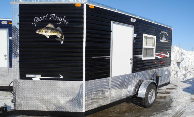 Sport angler fish house trailers in minnesota for Ice castle fish houses