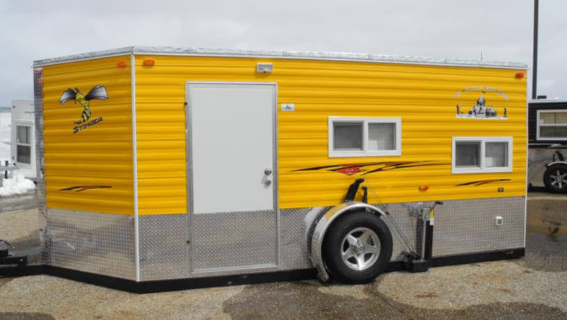 Stinger fish house trailers in minnesota for Fish house trailer