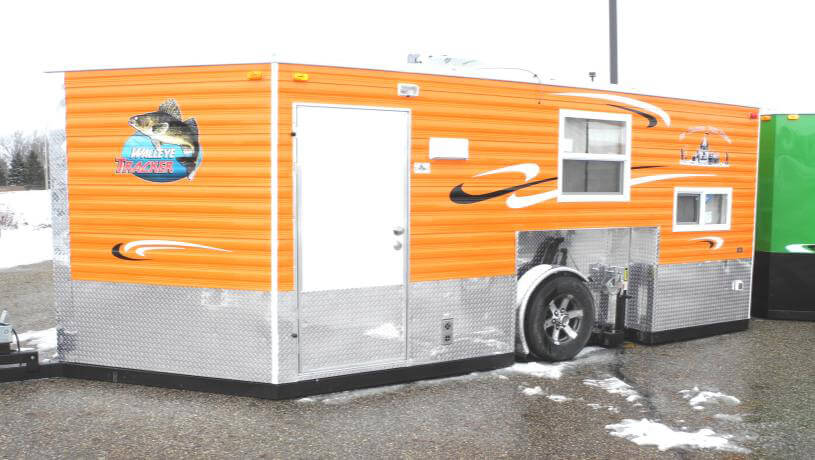 Walleye Angler Fish House Trailers In Minnesota