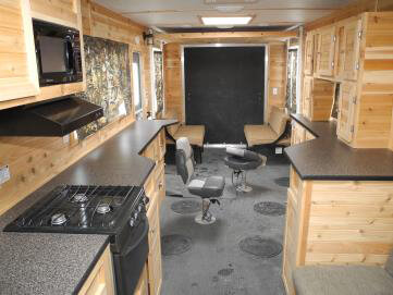 Toy hauler rv fish house trailers in minnesota for Ice fish house accessories