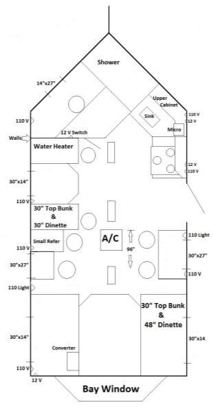 8 x 17v rv edition fish house trailers in minnesota for Ice castle fish house floor plans