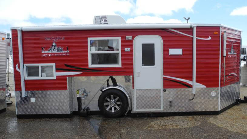 8 x 17v rv edition fish house trailers in minnesota for Ice castle fish house
