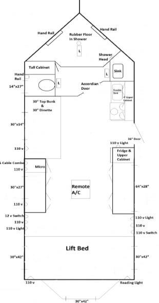 Handicap accessible rv fish house trailers in minnesota for Ice castle fish house floor plans