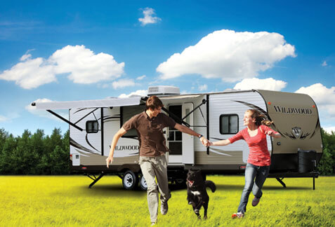 A forrest river fifth wheel model
