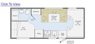 Minnie Winnie 22R Floor Plan