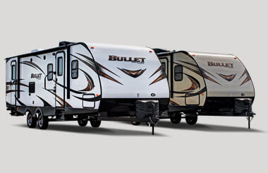 keystone bullet travel trailer exterior