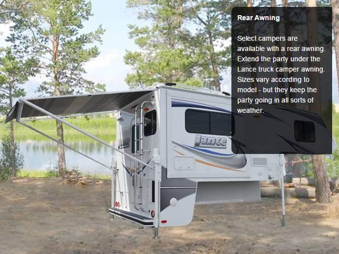 Lance 865 Truck Camper Lance 865 Short Bed