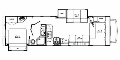 Gulfstream Conquest C63110 Rental RV Floor Plan
