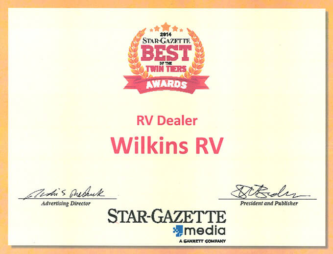 Star Gazette Readers' Poll Award