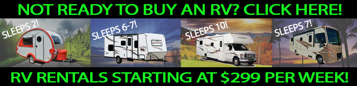 RV Rentals starting at $299 per week!