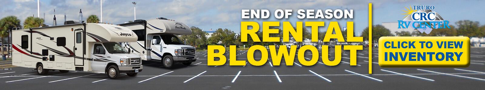CRC Rental Blowout