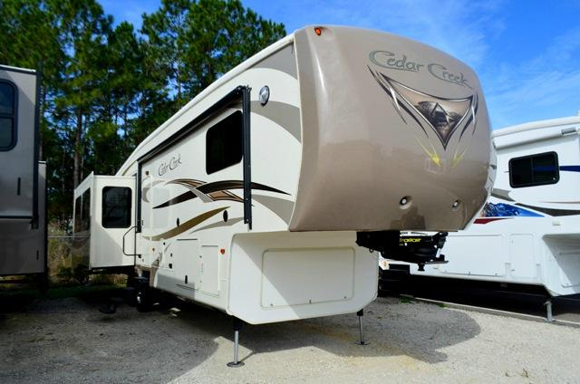 Used 2014 Forest River Cedar Creek 38RE Fifth Wheel For Sale 0002