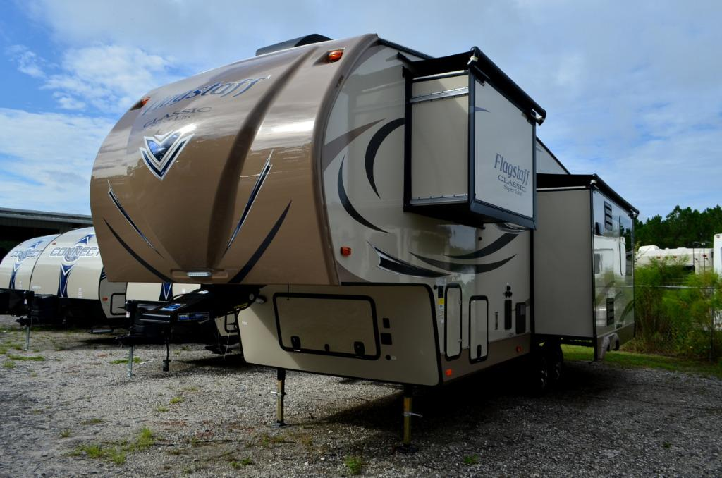 New 2017 Forest River Flagstaff Classic Super Lite 8528IKWS Fifth Wheel For Sale 0062
