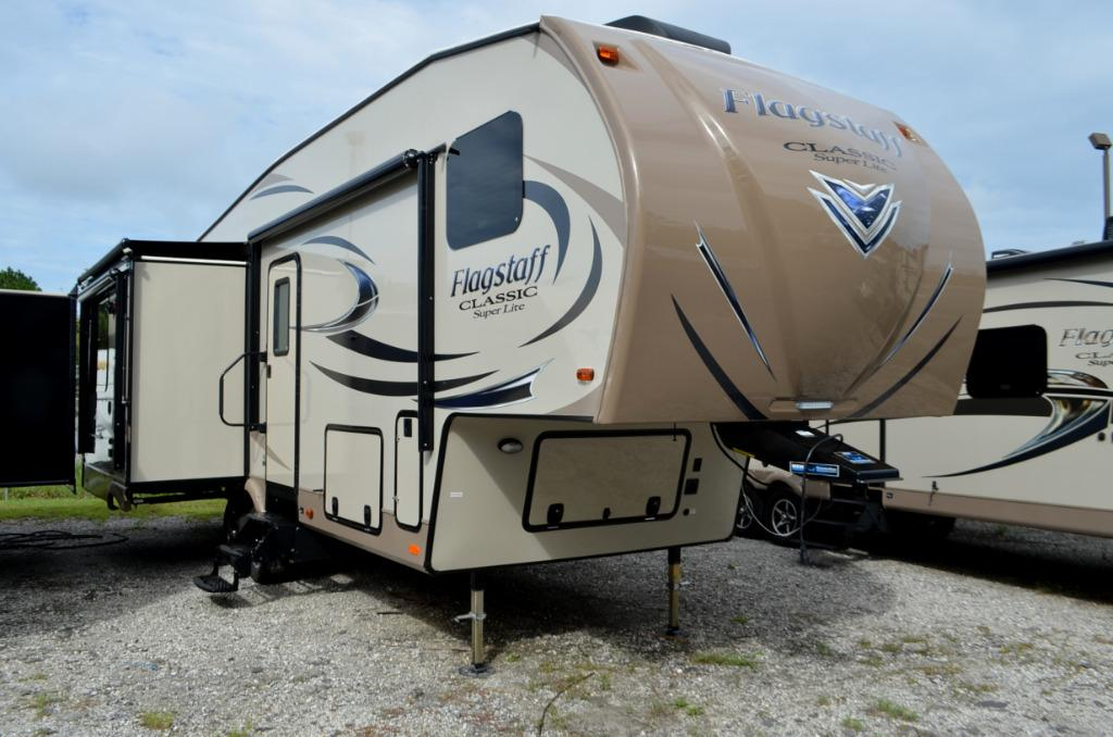 New 2017 Forest River Flagstaff Classic Super Lite 8528IKWS Fifth Wheel For Sale 0063