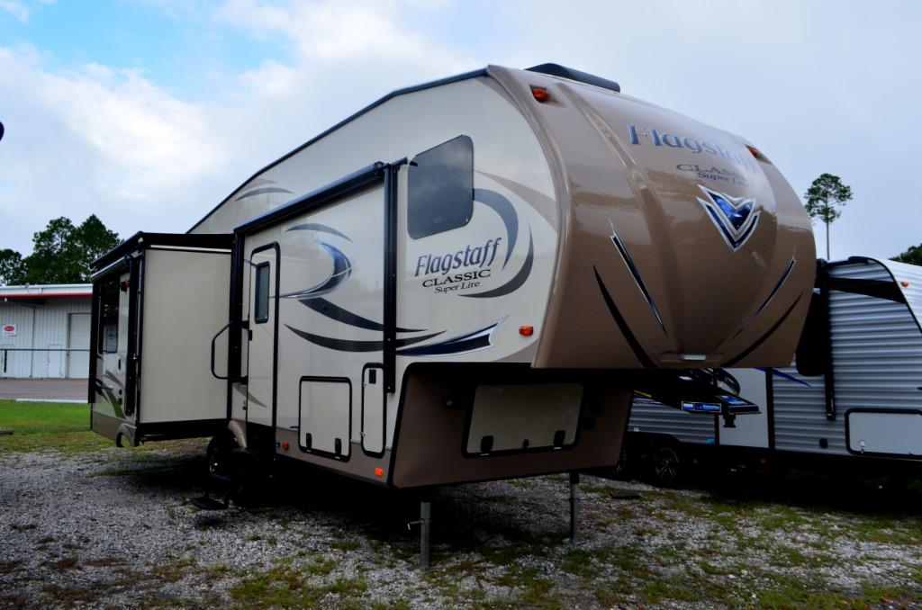 New 2017 Forest River Flagstaff Classic Super Lite 8528IKWS Fifth Wheel For Sale 0415