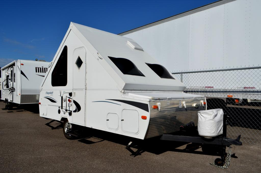 Used 2012 Forest River Flagstaff Classic Series T12DDST Pop Up Camping Trailer For Sale 0179