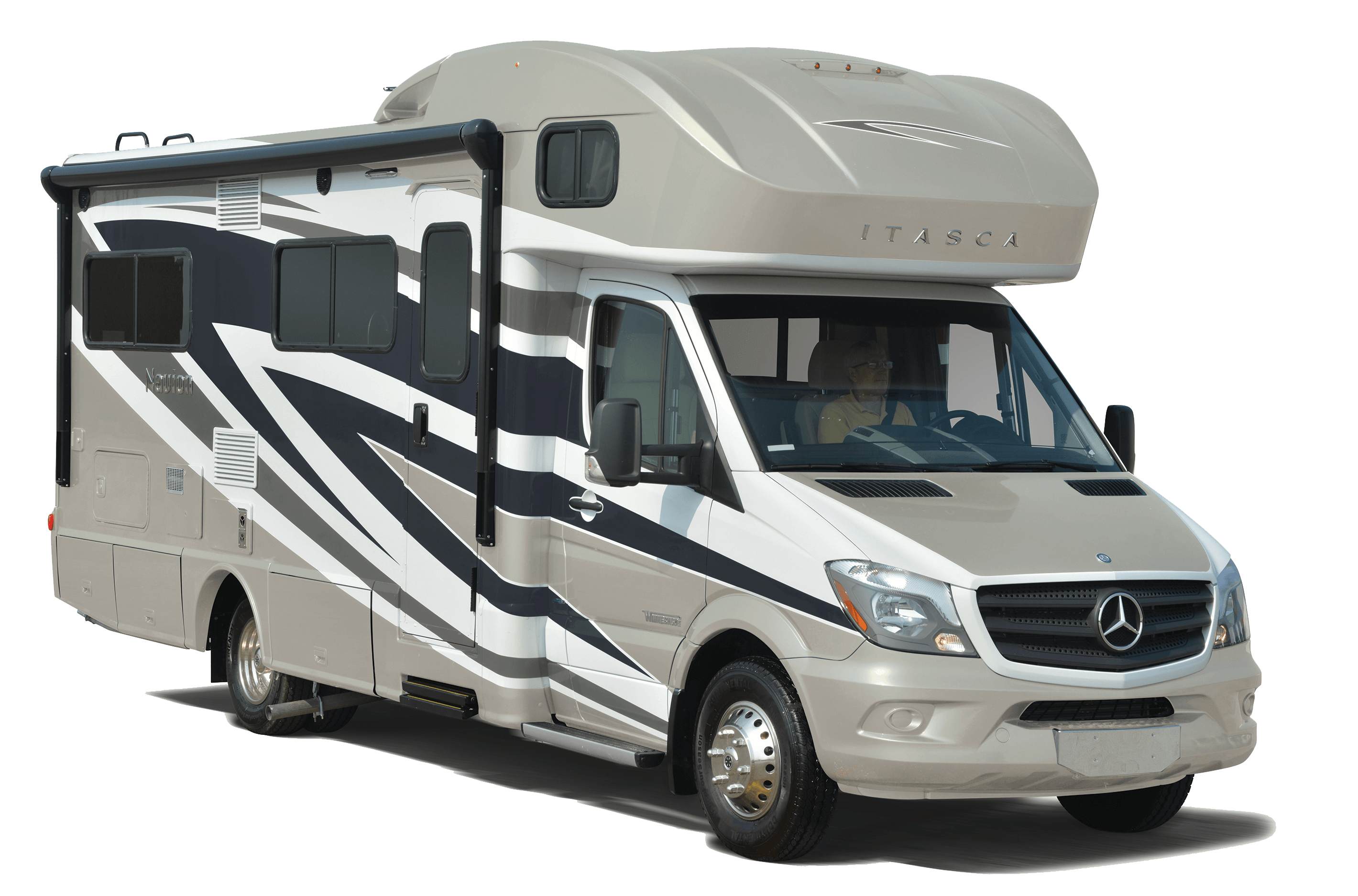 Navion class c motor home general rv center for Mercedes benz motor home
