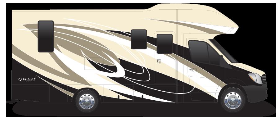 Entegra Coach Qwest Motor Home Class C - Diesel