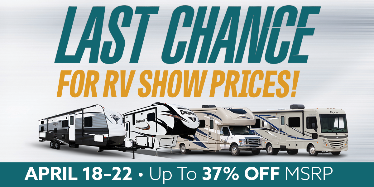 Last Chance For RV Show Pricing