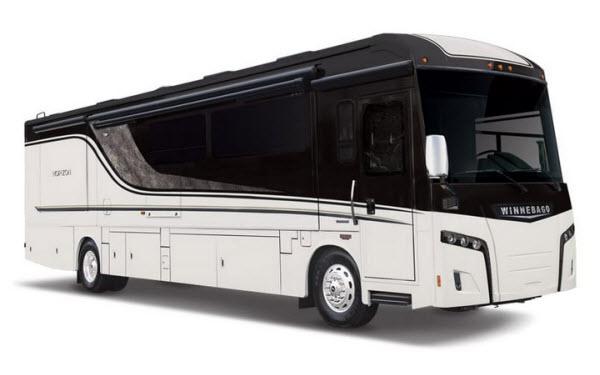 Winnebago Horizong luxury diesel class a motorhome exterior photo
