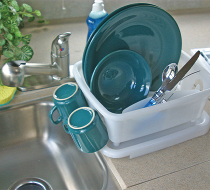 Camco Mini Dish Drainer & Tray