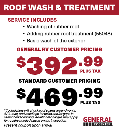 RV Roof Wash Treatment