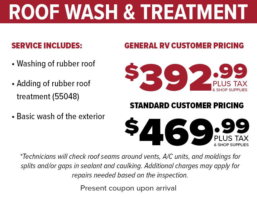 RV Roof Wash Treatment