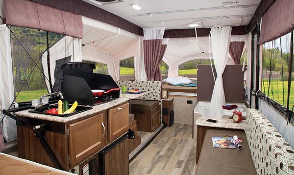 Inside - 2017 Clipper Camping Trailers 128LS Folding Pop-Up Camper