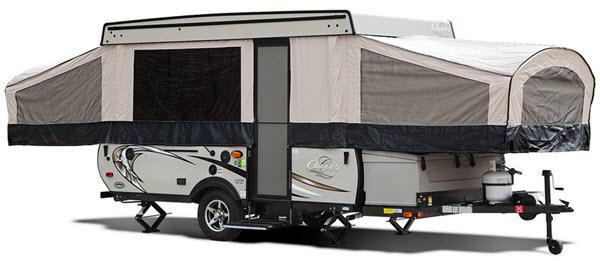 Outside - 2017 Clipper Camping Trailers 128LS Folding Pop-Up Camper