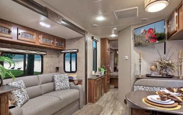 Inside - 2017 Freedom Express Liberty Edition 298REDS Travel Trailer