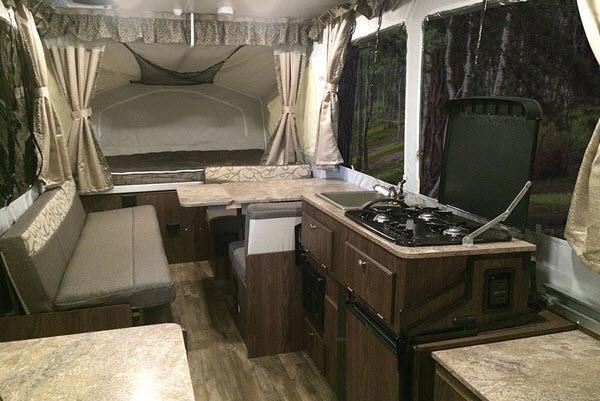 Inside - 2017 Flagstaff MACLTD Series 208 Folding Pop-Up Camper