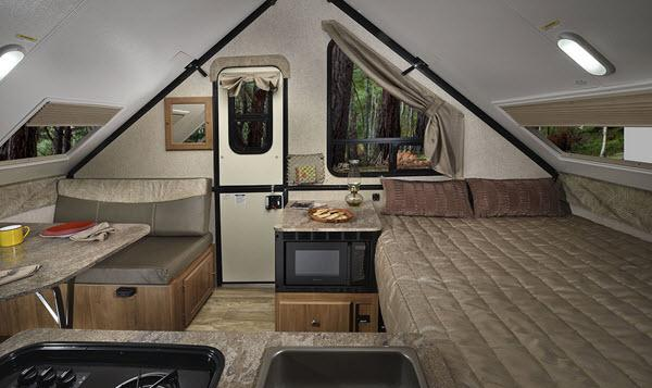 Inside - 2017 Flagstaff Hard Side T12DDST Folding Pop-Up Camper