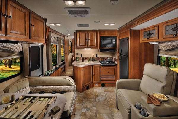 Inside - 2016 Leprechaun 220QB Ford 350 Motor Home Class C
