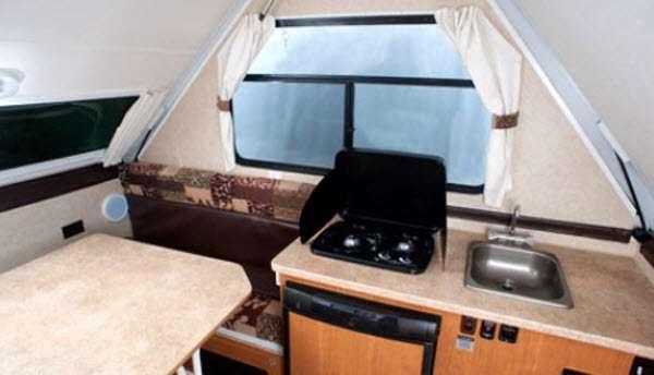 Inside - 2015 Folding Trailers Alpine Folding Pop-Up Camper