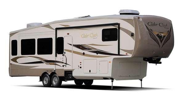 Outside - 2015 Cedar Creek 38RE Fifth Wheel