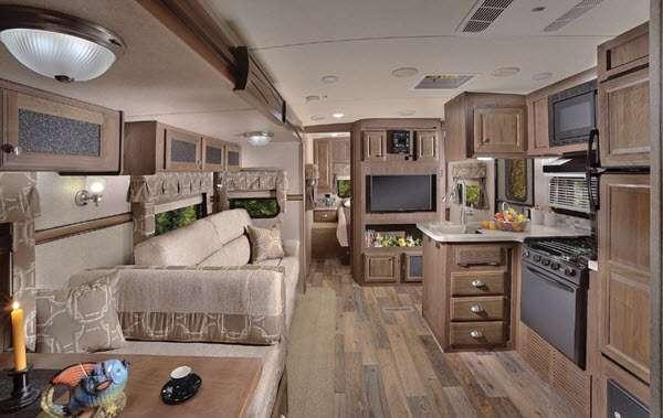 Inside - 2016 Flagstaff Classic Super Lite 831BHDS Travel Trailer