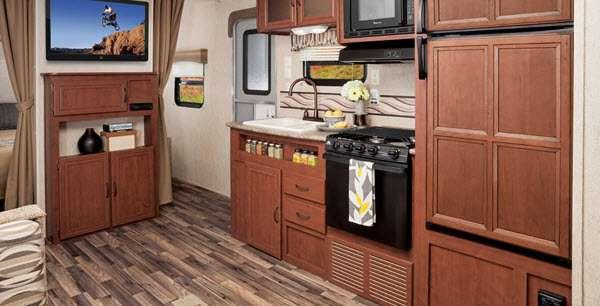 Inside - 2014 Canyon Cat 22CBC Travel Trailer