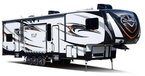 Outside - 2016 XLR Thunderbolt 380AMP Toy Hauler Fifth Wheel