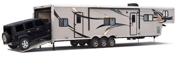Outside - 2016 Work and Play 40RLS Toy Hauler Fifth Wheel