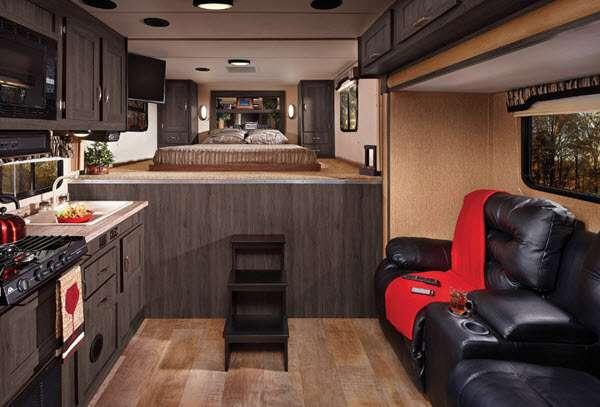 Inside - 2016 Work and Play 40RLS Toy Hauler Fifth Wheel