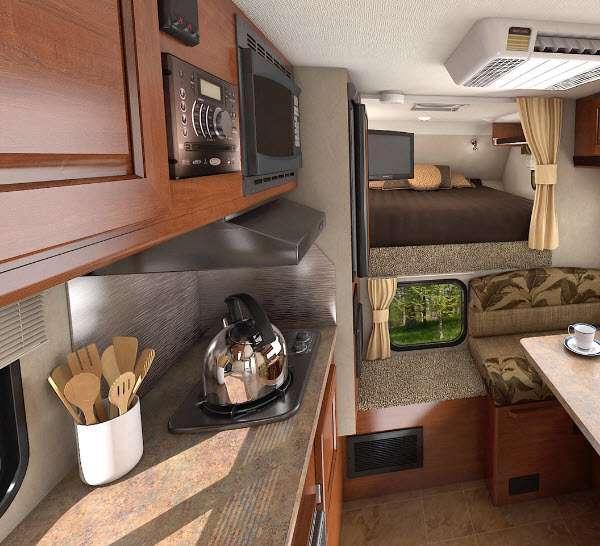 Inside - 2016 Lance 850 Truck Camper
