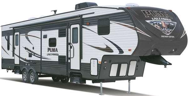 Outside - 2016 Puma Unleashed 351-THSS Toy Hauler Fifth Wheel