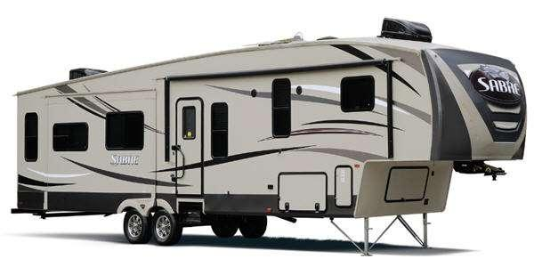 Outside - 2014 Sabre 33RKTS 6 Fifth Wheel