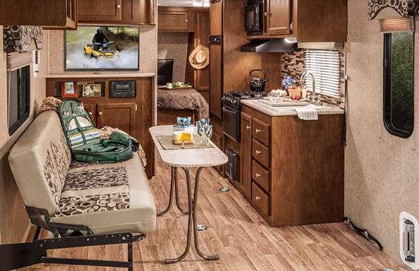 Inside - 2016 SportTrek 300VTH Toy Hauler Travel Trailer