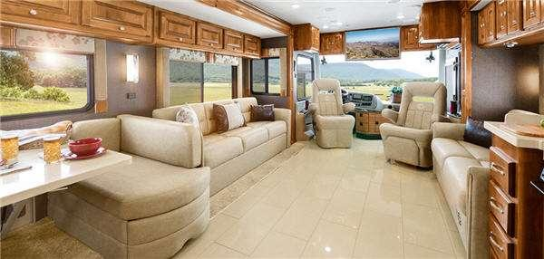Inside - 2016 Allegro RED 38 QBA Motor Home Class A - Diesel