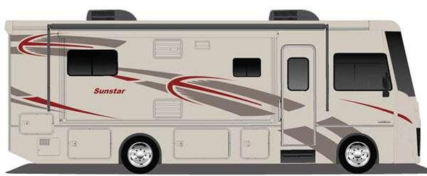 Outside - 2015 Sunstar 36Y Motor Home Class A
