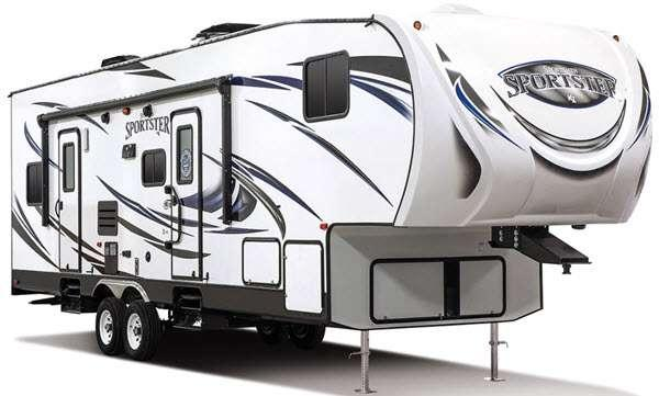 Outside - 2017 Sportsmen Sportster 305TH Toy Hauler Fifth Wheel