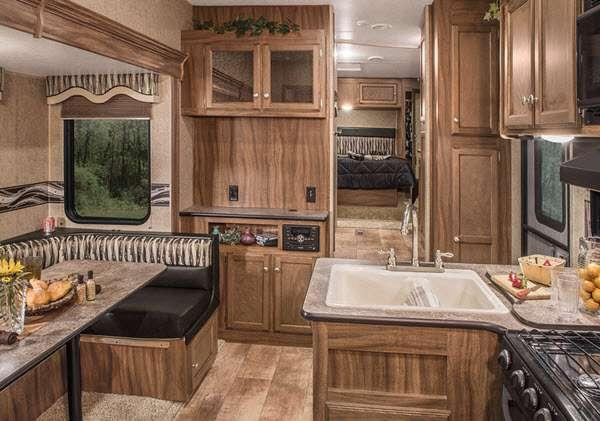 Inside - 2017 Sportsmen Sportster 305TH Toy Hauler Fifth Wheel