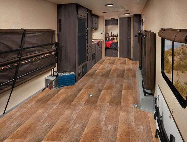 Inside - 2017 Work and Play Ultra Lite 25ULA Toy Hauler Travel Trailer